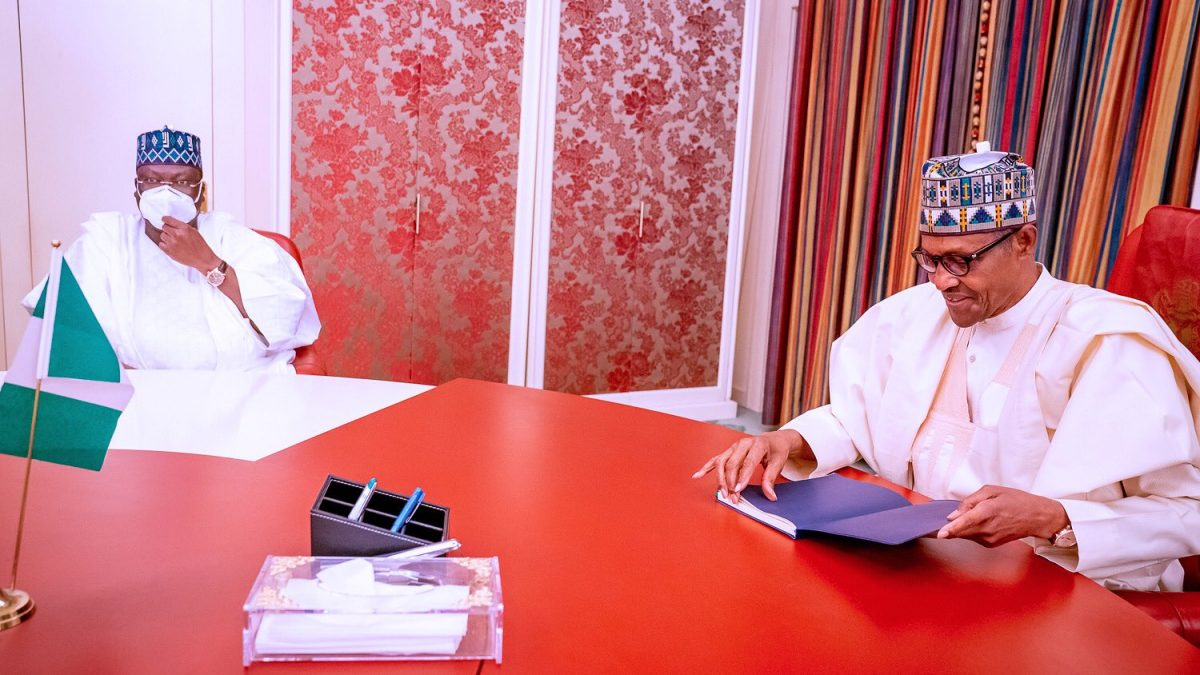 Buhari, Lawan meet to address pressing national issues